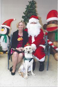 Christmas picture: Santa Kelton and me