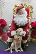 Kelton with Santa