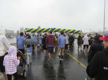 The start of the walk