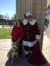 Hackett with Santa